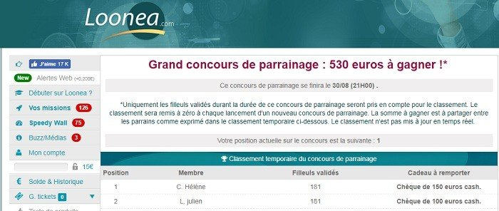 concours loonea